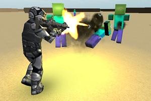 Флеш игра - Налетчик зомби