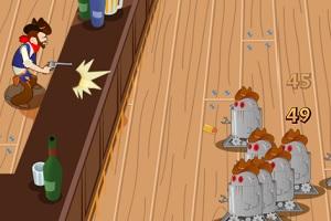 Игра Ковбой против роботов