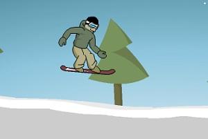 Игра С горы на сноуборде