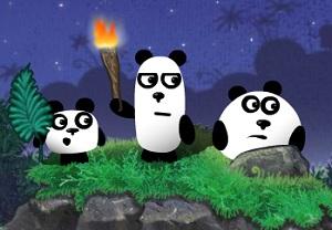 Флеш игра - Три панды 2
