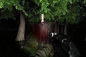 Флеш игра - Отстрел Слендера в лесу