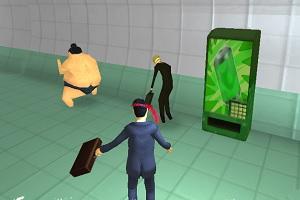 Флеш игра - Самурай в метро