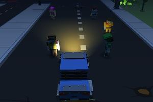 Игра Blocky Zombie Highway