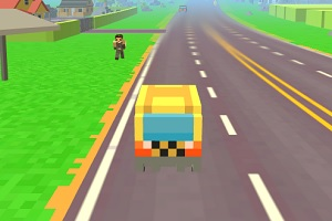 Игра Pixel Road Taxi Depot