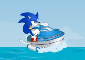Игра Соник Икс на водном скутере