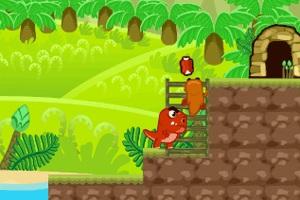 Флеш игра - Охота динозавра